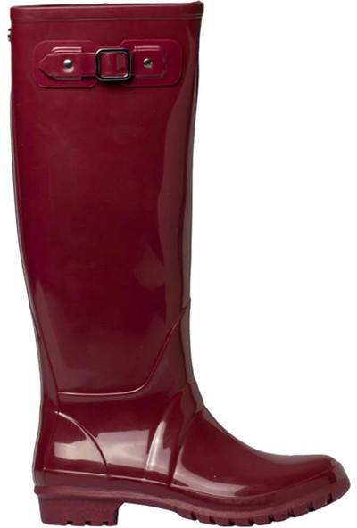 Igor W10132-Z16 Bordo Kadın Yağmur Çizmesi