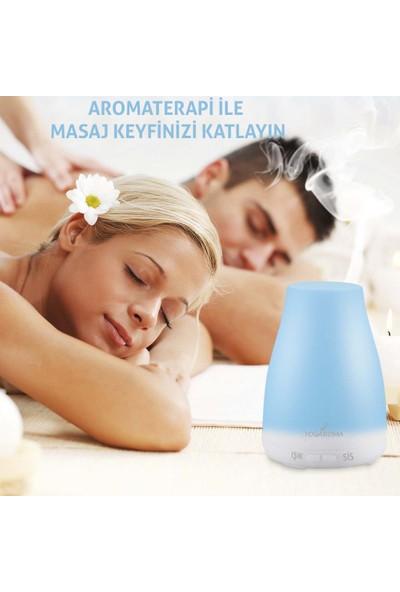 YogAroma Aroma Terapi Hava Nemlendirici Ve 6 Adet Aromaterapi Yağı