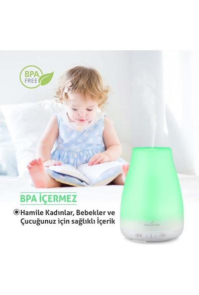 YogAroma Aroma Terapi Hava Nemlendirici Ve 8 Adet Aroma Terapi Yağı