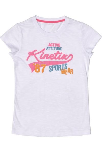 Kinetix A5132571 Beyaz Kız Çocuk T-Shirt