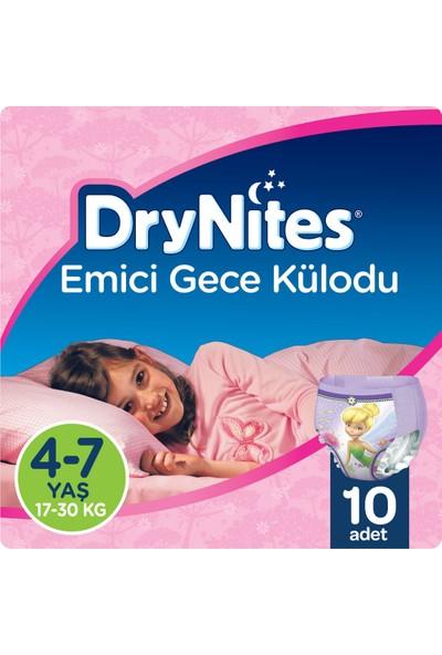 Huggies DryNites Kız Emici Gece Külodu 4-7 Yaş 10 Adet