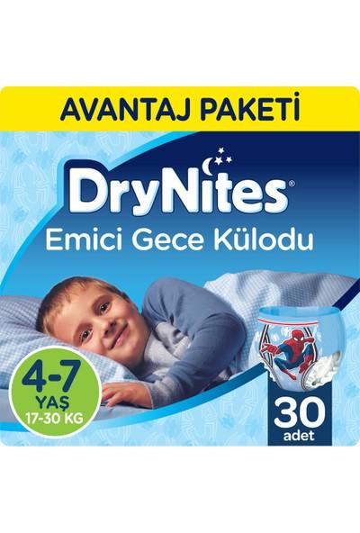 Huggies DryNites Erkek Emici Gece Külodu 4-7 Yaş Fırsat Paketi 30 Adet