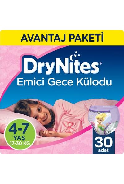 Huggies DryNites Kız Emici Gece Külodu 4-7 Yaş Fırsat Paketi 30 Adet