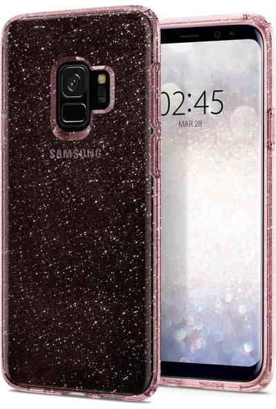 Spigen Samsung Galaxy S9 Kılıf Liquid Crystal Glitter Rose Quartz - 592CS22832
