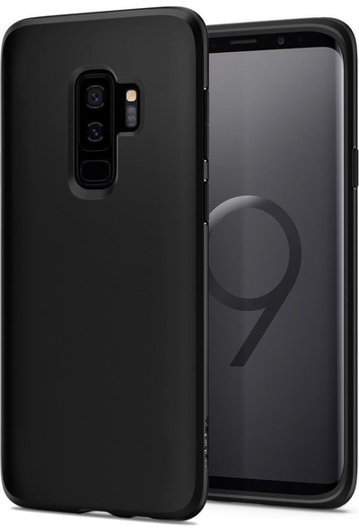 Spigen Samsung Galaxy S9 Plus Kılıf Liquid Crystal 4 Tarafı Koruma Matte Black - 593CS22912