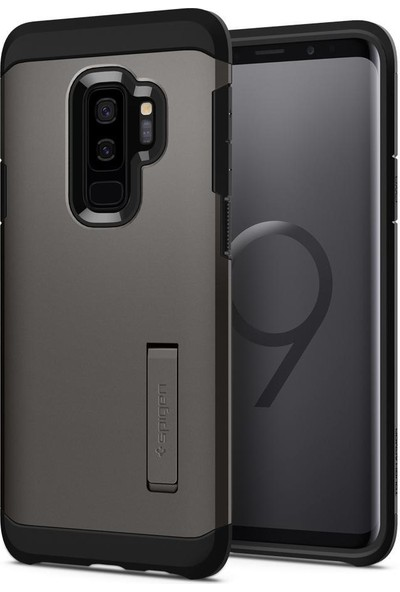 Spigen Samsung Galaxy S9 Plus Kılıf Tough Armor Gunmetal - 593CS22932