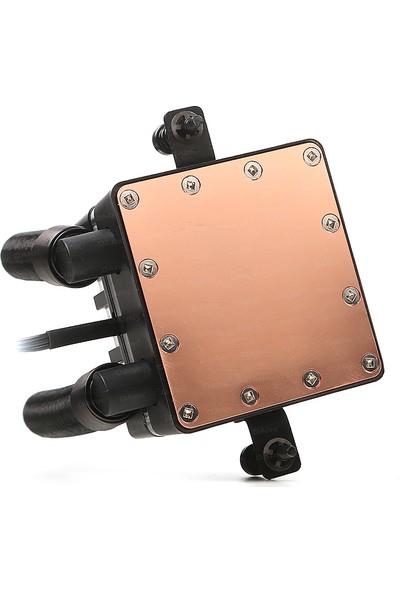 Dark AquaForce W242R Intel 775/1156/1155/1150/1151/2011/2066/1366 AM2/AM2+/AM3/AM3+ Uyumlu Çift Fanlı 240mm Kırmızı LED'li Sıvı Soğutma Sistemi DKCCW242R)