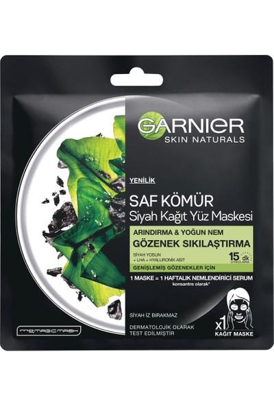 Garnier Skin Naturals Kömürlü Kağıt Yüz Maskesi Siyah Yosun
