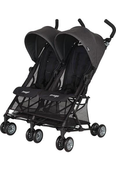 Prego Momentum İkiz Bebek Arabası - Siyah