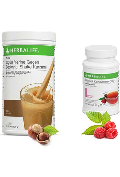 Herbalife Fındık Shake -Ahududu Çay 50 gr