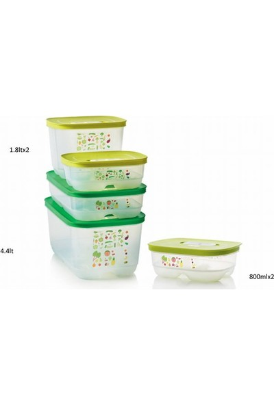 Tupperware Sera 5'Li Set Sebze Saklama Kabı