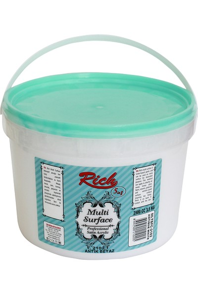 Rich Multi Surface Boya 2102 - Antik Beyaz 2500 ml ( 3,5 KG )