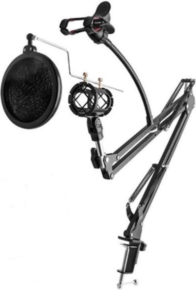 Lastvoice Set-01 - Mikrofon standı + Shock Mount + Pop Filtre