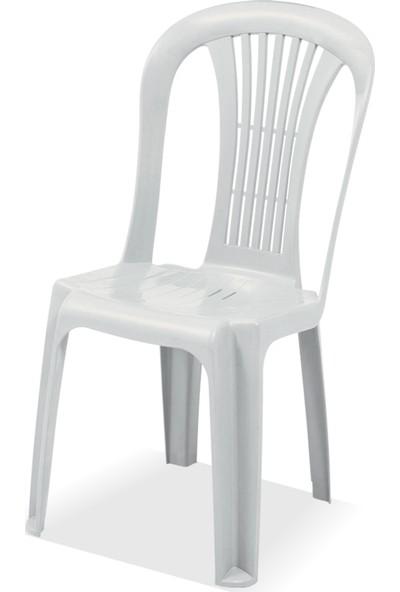 Gardelia Lux 4 Adet Plastik Sandalye Takımı 1.Sınıf Beyaz