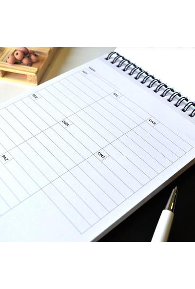KagitoWork Tasarımlı Haftalık Planlayıcı (A5)