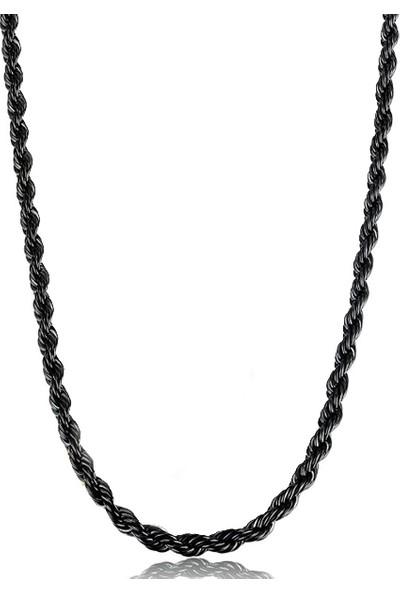 Chavin 75 Cm. Uzun Siyah 3 Mm. Erkek Çelik Zincir Dr86