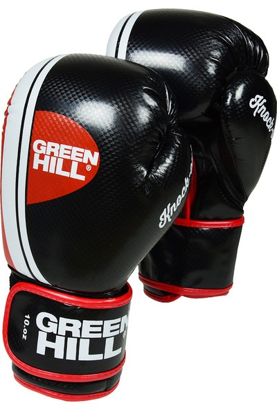 Green Hill Knockout Boks Eldiveni Siyah 10 Oz