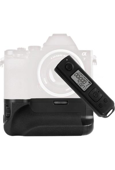 MeiKe Sony A7, A7R, A7S İçin MeiKe MK-AR7 Battery Grip + 2 Ad. Batarya + Zaman Ayarlı Uzaktan Kumanda