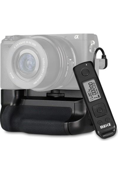 MeiKe Sony A6500 için MeiKe MK-A6500 Pro Battery Grip + 1 Ad. NP-FW50 Batarya