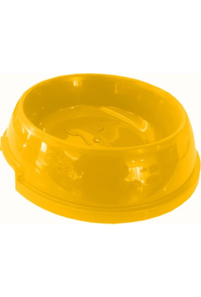 Markapet Köpek Mama Su Kabı Kemik Desenli 750 Ml Sarı