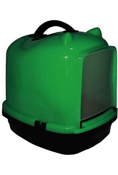 Markapet Kapalı Kedi Tuvalet Kabı 49.5*40*50 Cm Yeşil