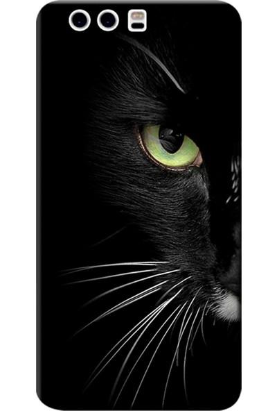 Kılıf Merkezi Huawei P10 Kılıf Silikon Baskılı Face Cat STK:482