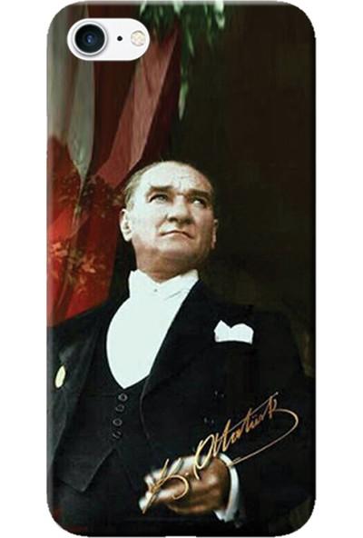 Kılıf Merkezi iPhone 6 Plus / 6S Plus Kılıf Silikon Baskılı Mustafa Kemal Atatürk STK:387