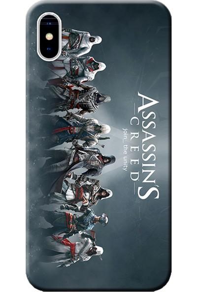 Kılıf Merkezi iPhone X Kılıf Silikon Baskılı AssassinCreed STK:161