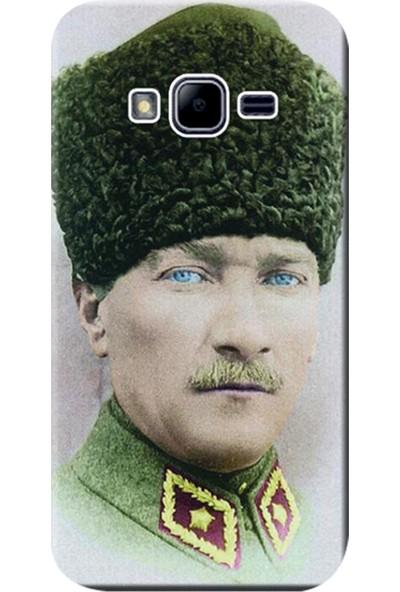 Kılıf Merkezi Samsung Galaxy Grand Prime Kılıf SM-G530 Silikon Baskılı Mustafa Kemal Atatürk STK:392