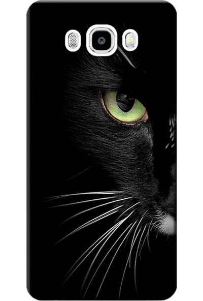 Kılıf Merkezi Samsung Galaxy J5 Kılıf SM-J500F Silikon Baskılı Face Cat STK:482