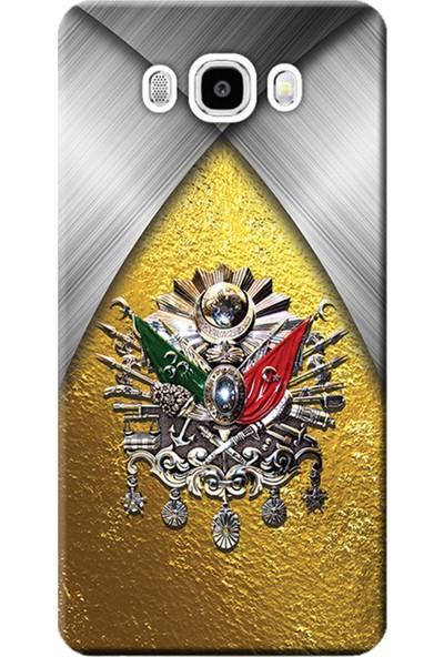 Kılıf Merkezi Samsung Galaxy On7 Kılıf SM-G600F Silikon Baskılı Osmanlı Tuğra Tasarım STK:424