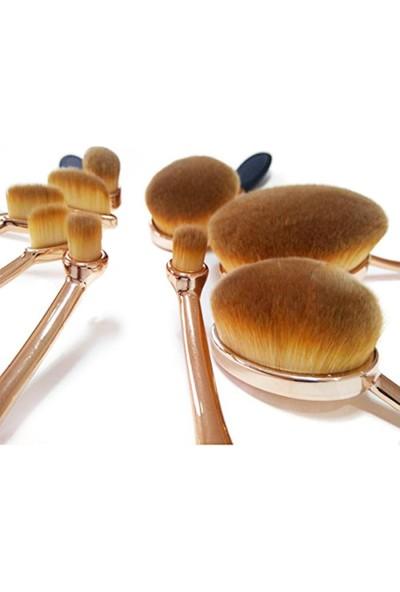 Multipurpose Kaşık Makyaj Fırça Seti 10 Parça Oval Set