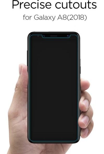 Spigen Samsung Galaxy A8 (2018) Cam Ekran Koruyucu GLAS.tR SLIM HD - 590GL22746