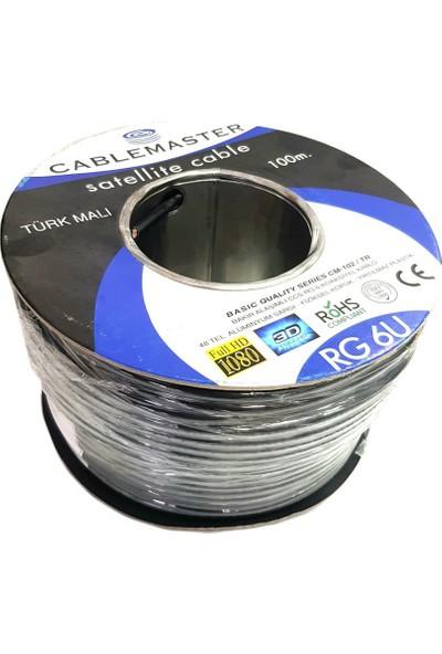 Cablemaster Rg6-U6 Bakır Anten Kablosu 100Metre Siyah