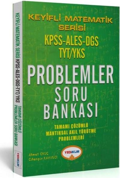 Yediiklim Yayınları Keyifli Matematik Serisi KPSS ALES DGS TYT/YKS Tamamı Çözümlü Proplemler Soru Bankası