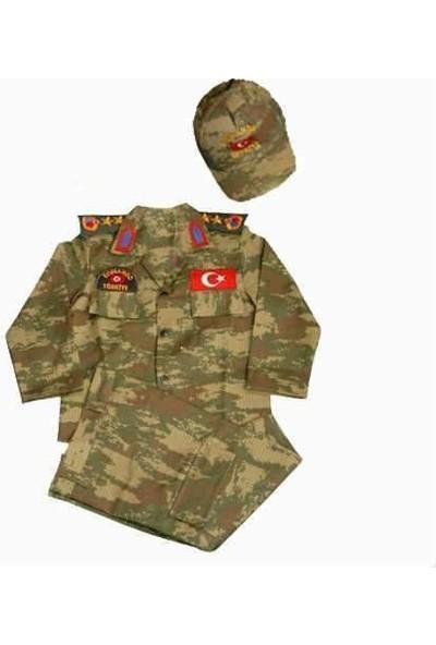 Temiz Pazar Erkek Çocuk Asker Komando Kıyafeti Kostüm