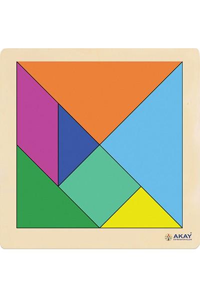 Hi-Q Toys Ahşap Puzzle Tangram 30 x 30 cm