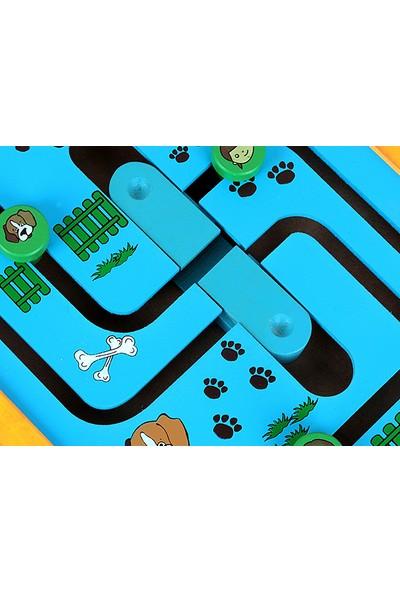 HiQ Toys Ahşap Duvar Aktivitesi 2 Köpek Ve Çocuklar