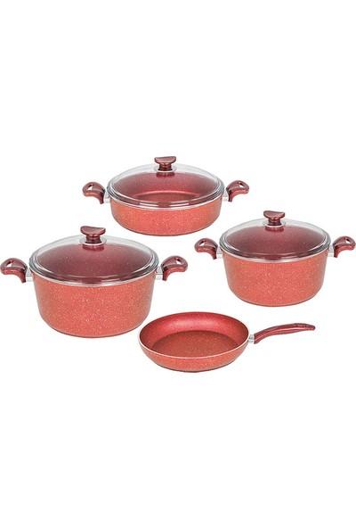 Fms 7 Parça Kırmızı Granit Set