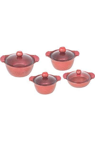 Fms 8 Parça Kırmızı Granit Set