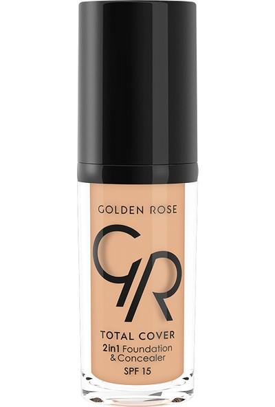 Golden Rose Total Cover 2 In 1 Fondöten&Kapatıcı 11