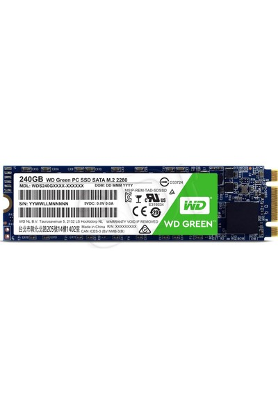 WD 240GB Sata Green M.2 SSD WDS240G2G0B