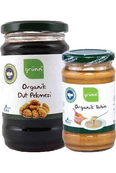 Grünn Organik Dut Pekmezi 850 gr ve Tahin 300 gr