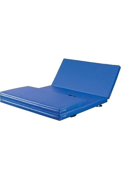 Mobilyapı mavi Katlanir Spor Minderi 100X200X3 Cm Sert Sünger