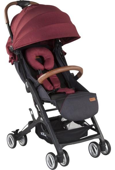 Kraft Flex Bebek Arabası - Bordo