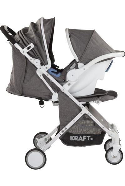 Kraft Pocket Travel Bebek Arabası - Gri