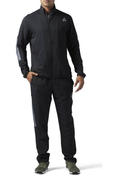 Reebok Siyah Erkek Eşofman Takımı Ts Techy Woven