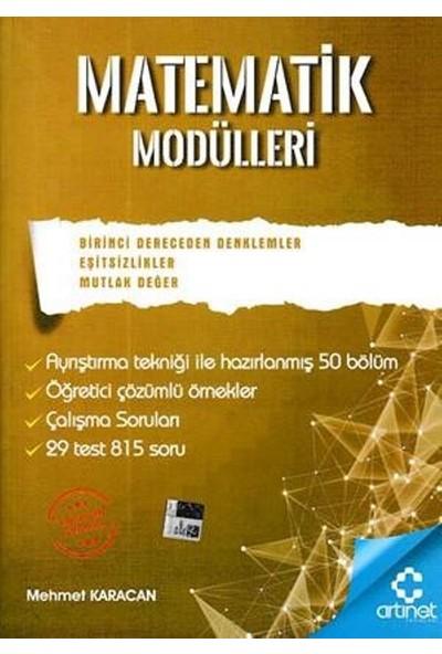 Artınet Matematik Modülleri - 1. Derece Denklemler, Eşitsizlikler, Mutlak Değer - Mehmet Karacan