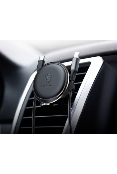 Baseus Magnetic Air Vent Mıknatıslı Araç Tutucu Kablo Klipsli Sugx A0V