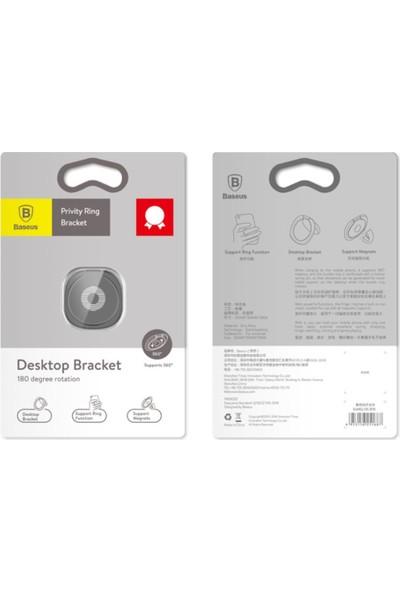 Baseus Privity Ring Bracket Telefon Tutucu Yüzük Sumq 01 - Siyah - SUMQ-01